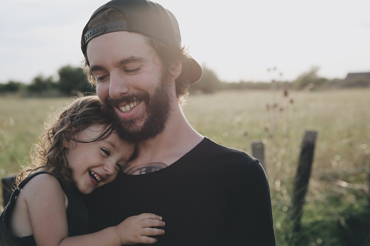 people, father, daughter